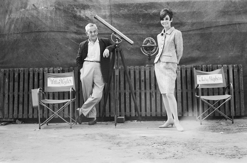 Audrey Hepburn and William Wyler, Paris, 1966
