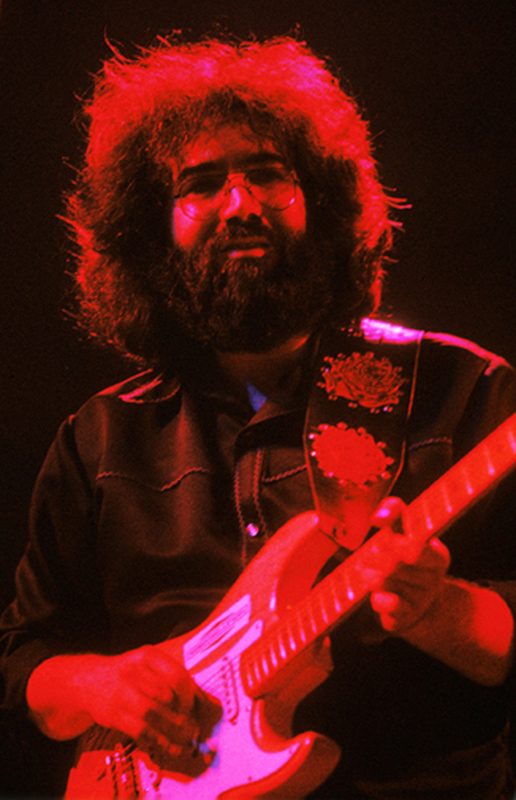 Jerry Garcia Performing (Red Glow)