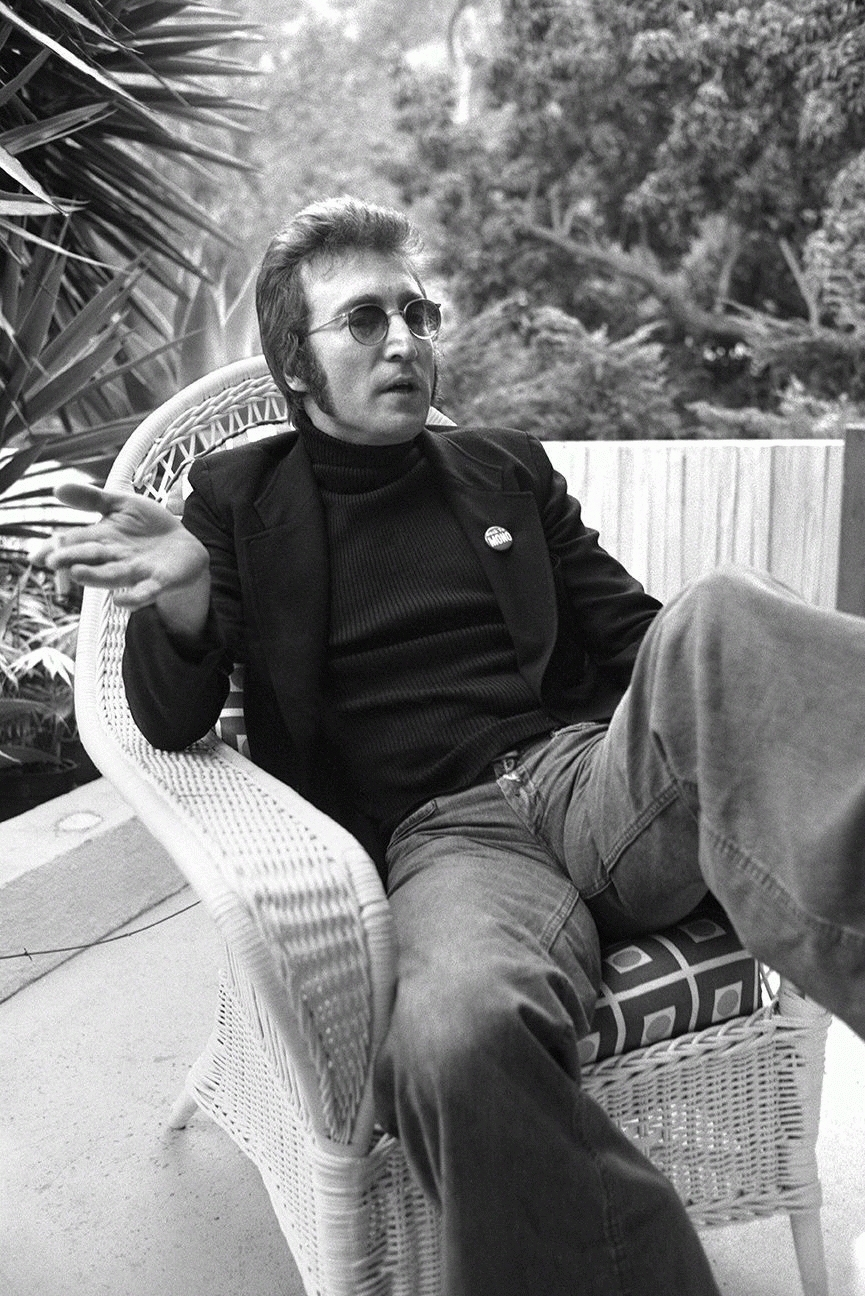 John Lennon, Wicker Chair, Los Angeles, 1973