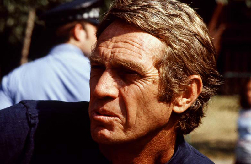 Steve McQueen Portrait (I), The Hunter Film Set, Chicago, 1979