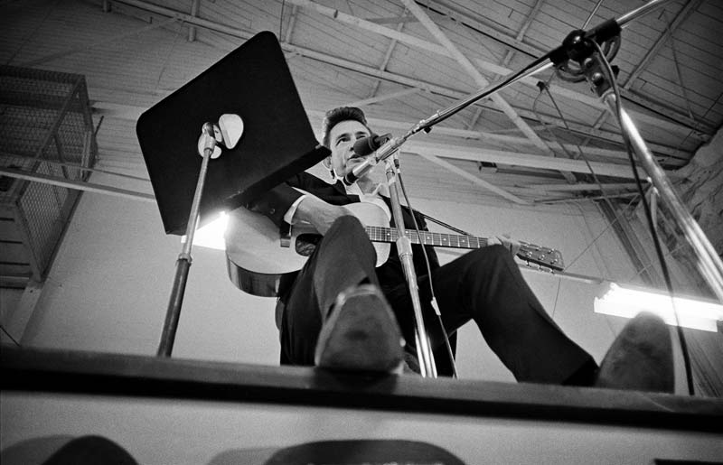 Johnny Cash On Stage at Folsom Prison, Folsom, CA 1968