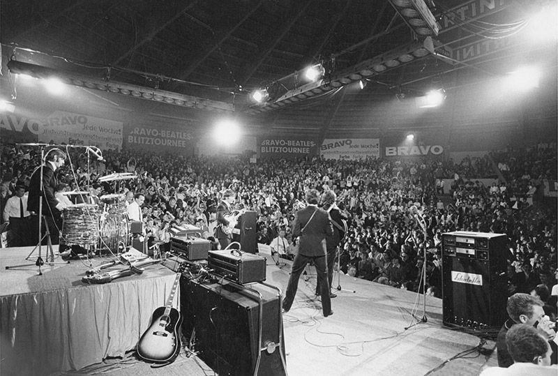 The Beatles, Munich Stage, Germany, 1966