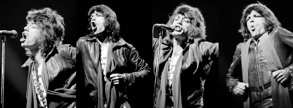 Mick Jagger Performing, Quad Montage, 1972