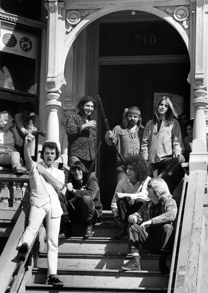 The Grateful Dead on the Steps of 710 Ashbury St, San Francisco, 1967