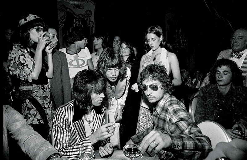 Bob Dylan, Keith Richards & Mick Jagger, NYC, 1973