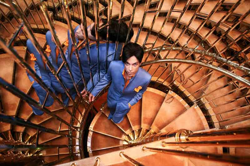 Prince Portrait on Mirrored Stairs, Dorchester Hotel London, 2006