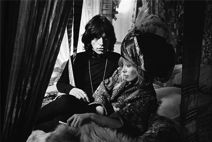 Mick Jagger and Anita Pallenberg on the Set of Performance, 1968