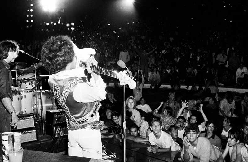 Jimi Hendrix Playing With His Teeth, Hollywood Bowl, Los Angeles, CA 1968