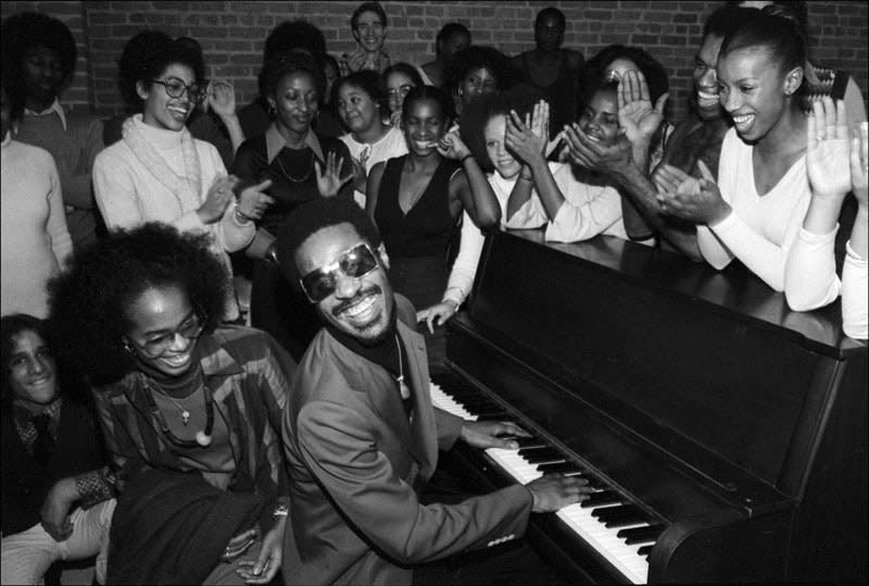 Stevie Wonder Performing for Students at The Dance Theater of Harlem, NYC, 1976