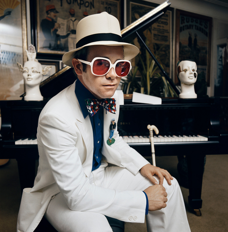 Elton John, Greatest Hits Album Cover Outtake, Sitting at Piano