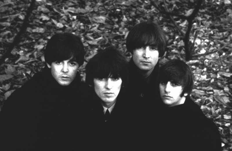 The Beatles With Leaves, Hyde Park, 1964