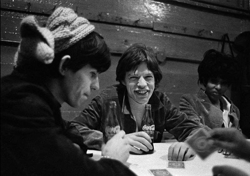 Mick Jagger and Keith Richards Playing Poker, US Tour, 1965