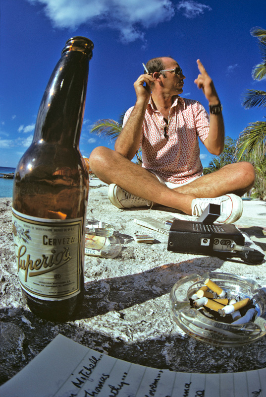 Hunter S. Thompson, Beach Still Life, Cozumel, Mexico, 1974