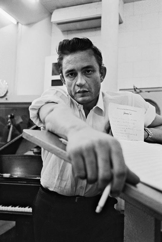 Johnny Cash with Cigarette II, Columbia Studios, Los Angeles, CA, 1961