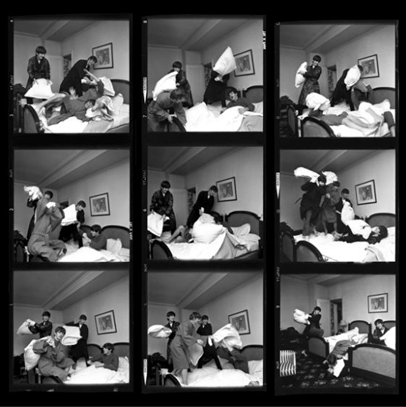 Pillow Fight Times Nine Contact Sheet, George V Hotel, Paris, 1964