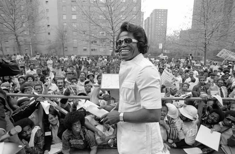 James Brown Smiling, Harlem, NY, 1979 (Horizontal)