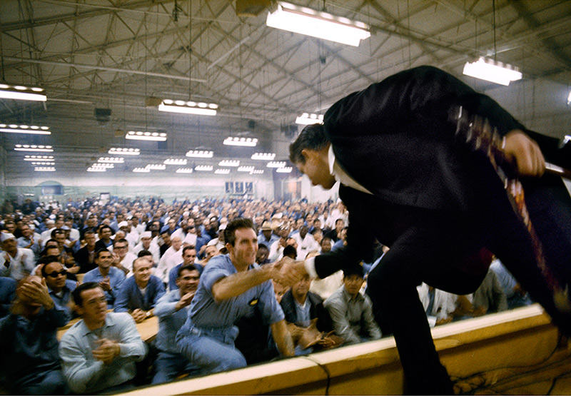 Johnny Cash Shaking Hands with Glen Sherley, Folsom Prison, 1968