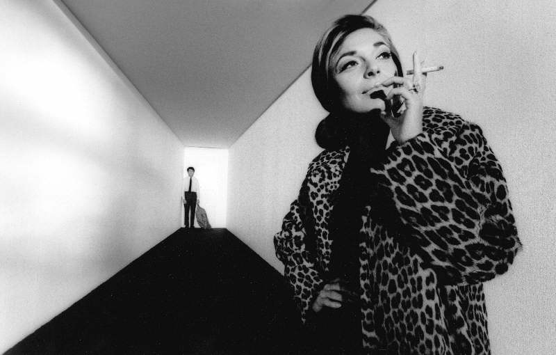 Anne Bancroft and Dustin Hoffman, on the Set of The Graduate, 1967