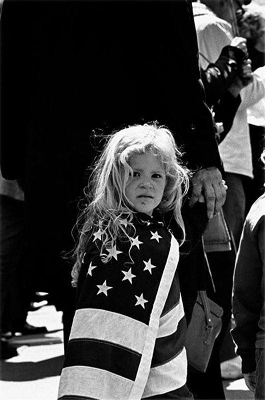 Girl Wrapped in Flag