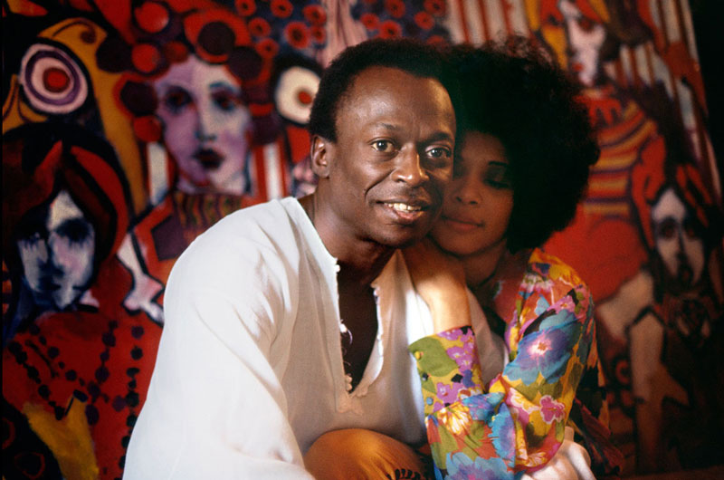 Miles Davis with his Wife, Betty Davis at their Home, New York City, October 1969