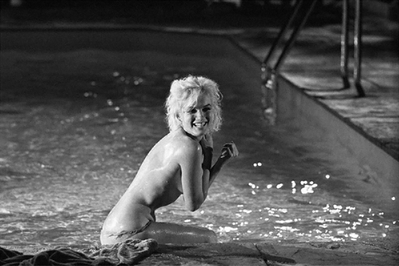 Marilyn Monroe (25), Laughing in Pool, on the Set of Something's Got to Give, May, 1962