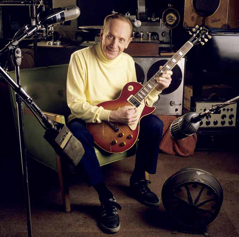 Les Paul Portrait Sitting in Green Chair, NJ