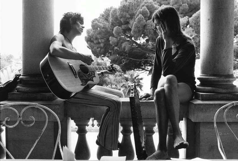 Keith Richards & Gram Parsons on the Veranda, Nellcôte, France, 1971