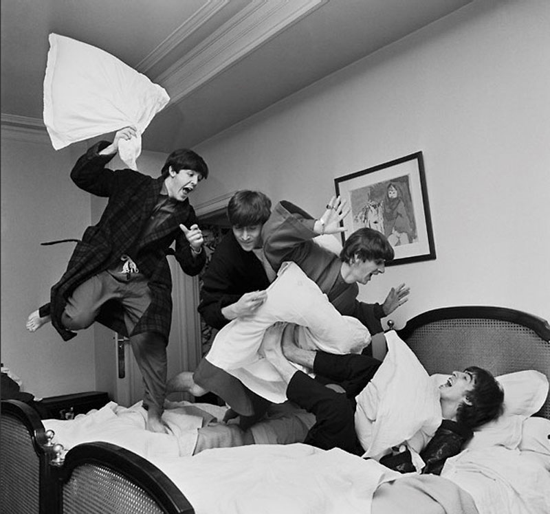 Beatles Pillow Fight, George V Hotel, Paris, 1964