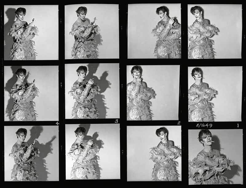 David Bowie, Scary Monsters Contact Sheet, 1980
