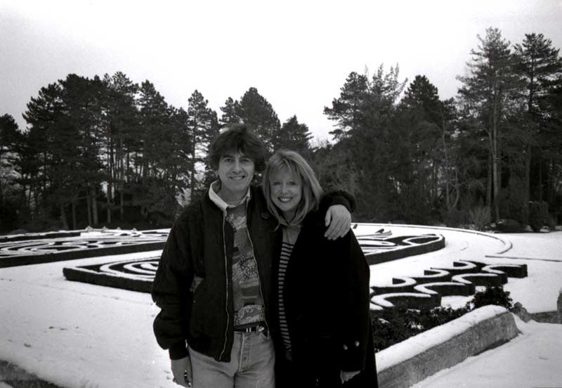 Pattie & George in Snow, Friar Park, 1991