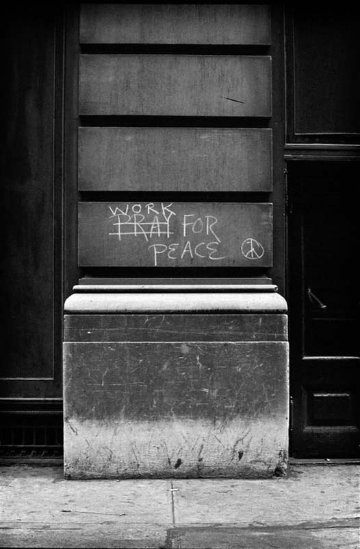 New York Message: Work For Peace, New York, 1962