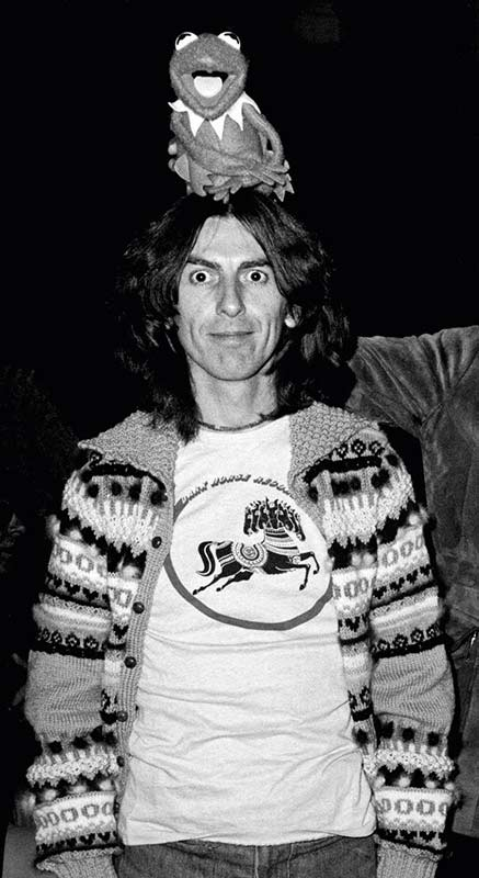 George Harrison and Kermit The Frog, SNL Set, NYC, 1976