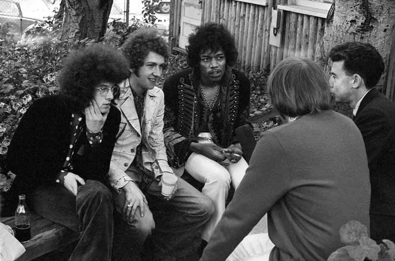 The Jimi Hendrix Experience Being Interviewed, Monterey Pop Festival, 1967