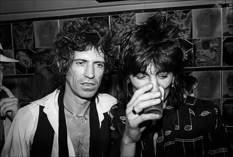 Keith Richards and Ron Wood at Danceteria, NYC, 1980