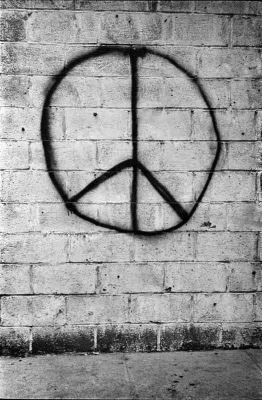 Peace Brick Wall, New York, 1962