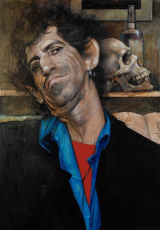 Keith Richards Portrait with Skull, 1993