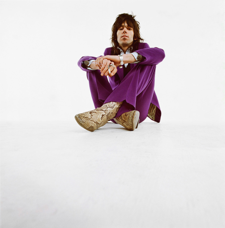 Keith Richards in Purple Suit, London, 1968