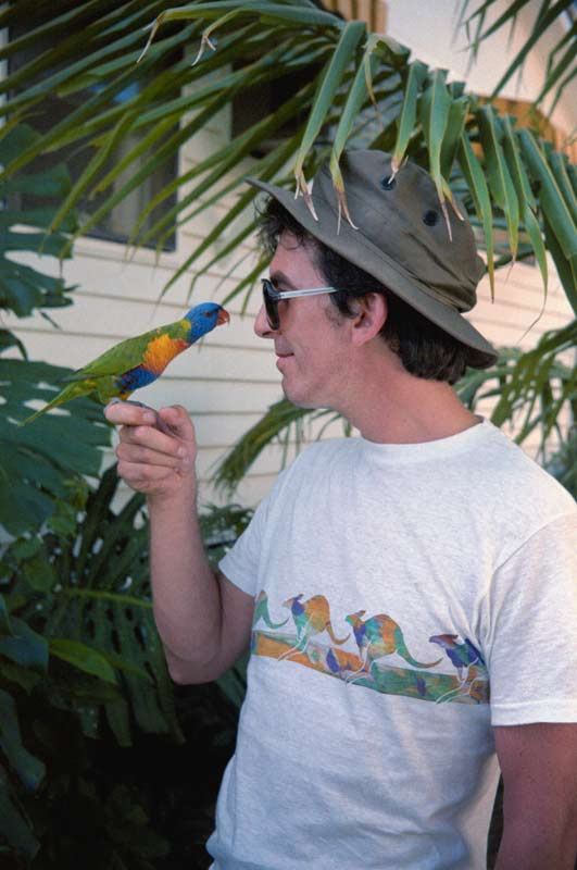George Harrison, Great Barrier Reef, Australia, 1980 (with Parrot)