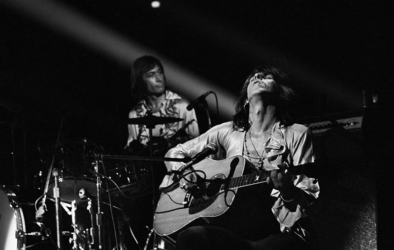 Keith Richards and Charlie Watts, Onstage 1972