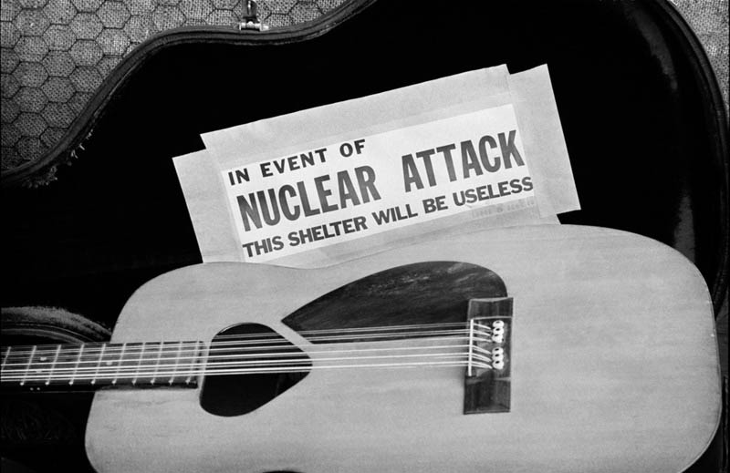 In Event Of Nuclear Attack This Shelter Will Be Useless, Newport Folk Festival, RI, 1963