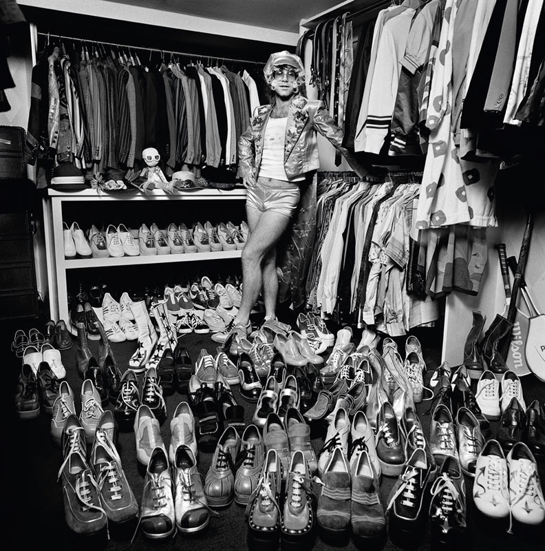Elton John, Shoes, London, 1975