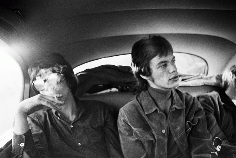 Keith Richards and Mick Jagger in Limo, London, 1967