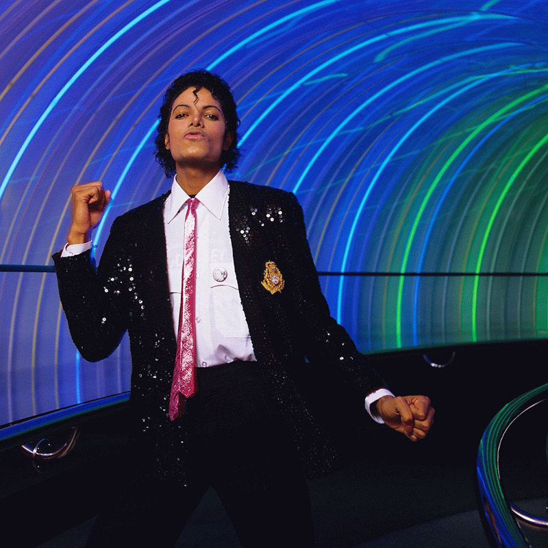Michael Jackson Dancing in Light Tunnel II, Disney World, 1984