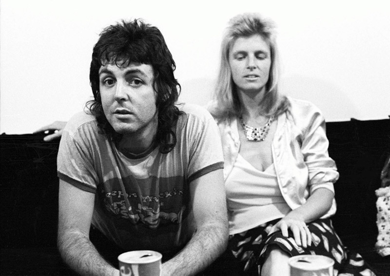 Paul & Linda McCartney Backstage, City Hall, Newcastle, 1973