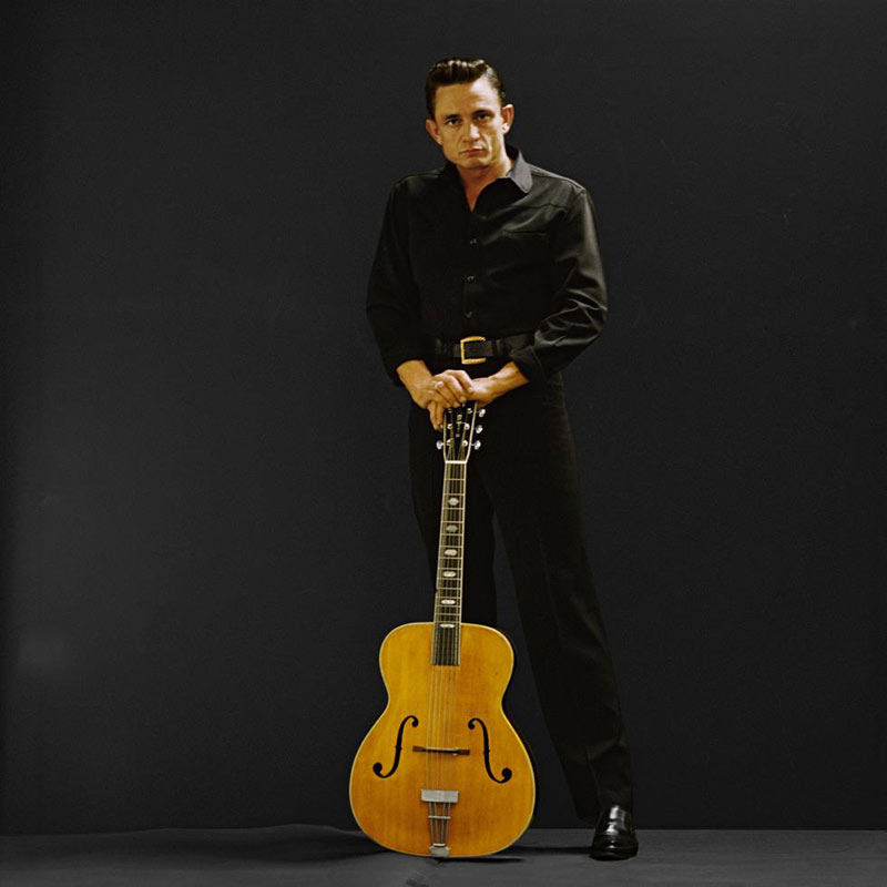 Johnny Cash Standing with Guitar, Photo Studio, Los Angeles, CA, 1962