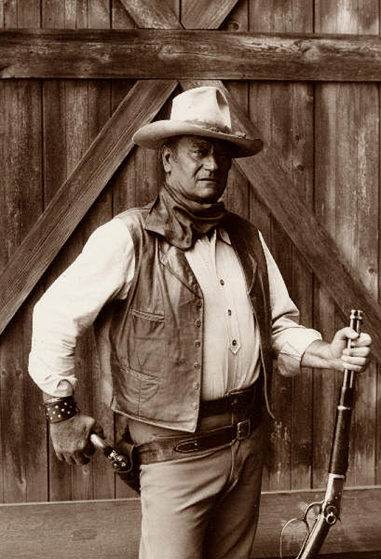 John Wayne Portrait on the Set of The Cowboys, 1972