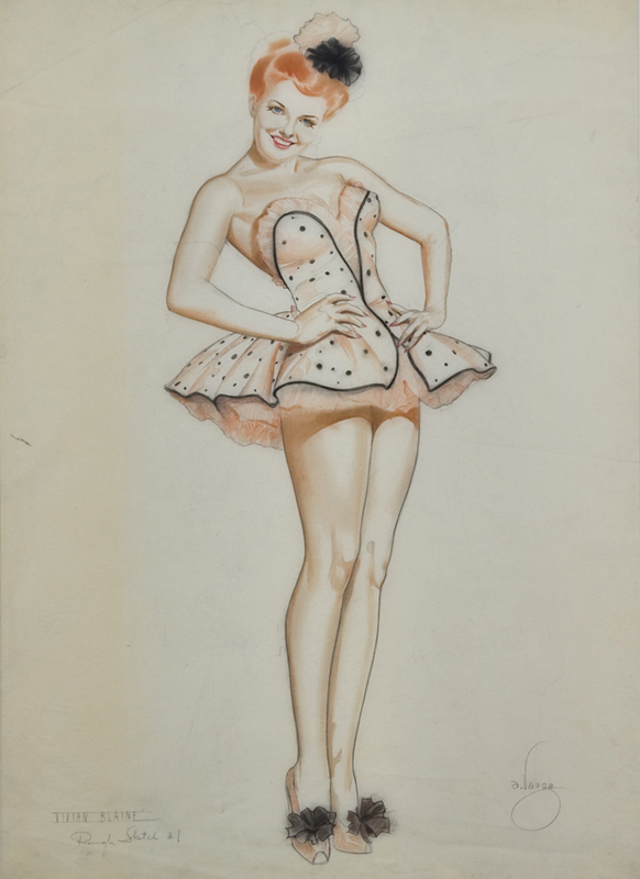 Vivian Blaine, Rough Sketch #1, c.1945