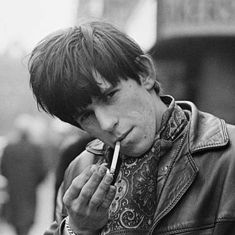 Keith Richards Lighting a Cigarette, London, 1964