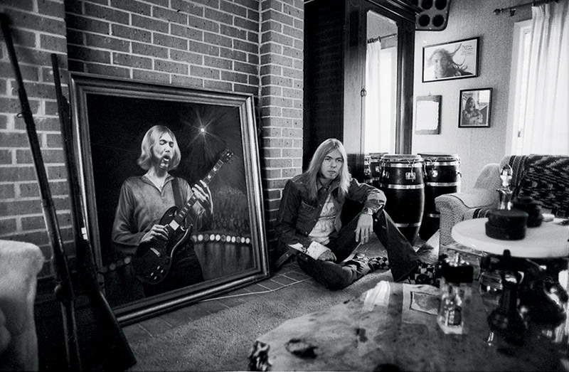 Greg Allman with Duane Allman Portrait, Macon, GA, 1975