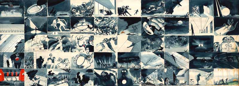 Original Storyboard for Pink Floyd The Wall, c.1981